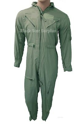 US Military Nomex Flyers Coveralls Flight Suit, Green, Previously Issued