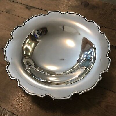 Large George V Solid Silver Bowl, Hallmarked Birmingham 1933 in Lovely Condition