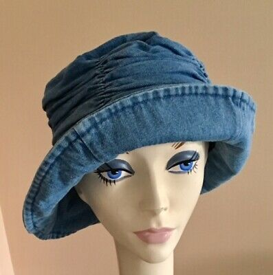 NWoT! Cotton Denim Gathered Crown Hat with Flexable Brim LINED Lot Of 10