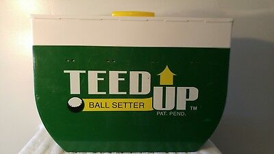 Teed Up Golf Ball Setter Feeder Gravity Fed Portable Practice Tee Training Aid