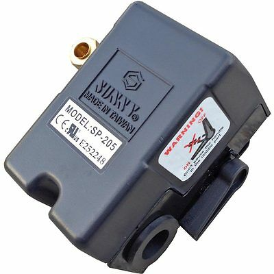 Heavy Duty Air Pressure Control Switch, Sunny H1, 1 port,140-175 PSI, 25 Amp