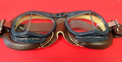 Raf Mk Viii Flying Goggles- Made In England-New Condition