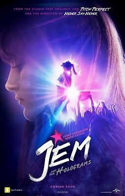 Jem And The Holograms - Original DS Movie Poster - Authentic D/S One Sheet 27x40