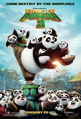 Kung Fu Panda 3 - Original DS Movie Poster - Authentic D/S One Sheet 27x40
