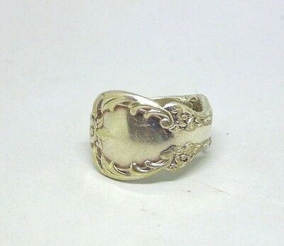 60's 70's Original Rogers Silver Plate Spoon Ring 6.5