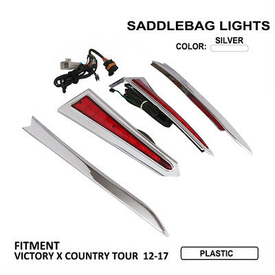 Motorcycle Rear Saddlebag Brake LED Lights For Victory X Country Tour 2012-2017