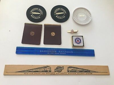 GREAT NORTHERN northern pacific, bamberger, Western Tape, Tie Bar, Rulers Wallet