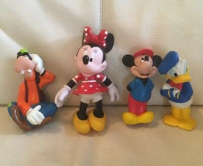 Set Of 4 Disney Characters Mickey & Mini Mouse Donald Duck Goofy
