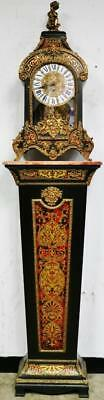 Rare Antique FHS 8 Day Westminster Chime Boulle Bracket Clock On Matching Pillar