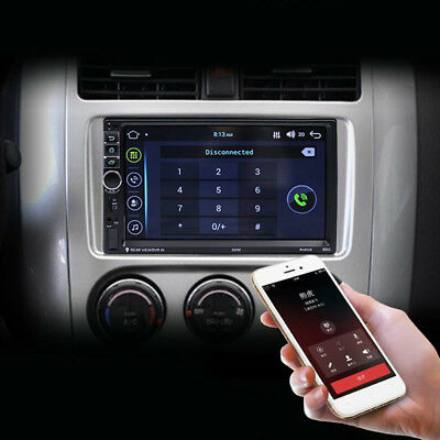 7 TFT Touch Screen 2 Din Quad-core Android 7.1 OS Bluetooth Car GPS MP5 Player