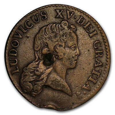 1720 AA French Colonies Half Sol VF (Chopmark) - SKU#170027