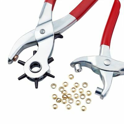 Red Steel Punch Plier Sets Eyelet Pliers&Iron Finding Suitable For Leather Punch