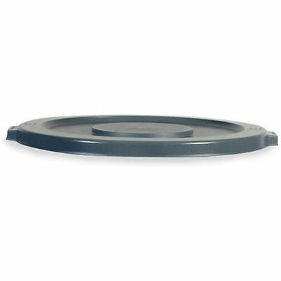RUBBERMAID BRUTE Flat Lid for 10-Gallon Round Containers - Gray, Lot of 1