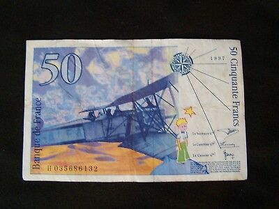 Banque de France 50 Franc Bank Note Paper Money 1997
