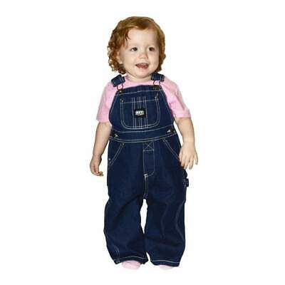 Key Little Boys Unlined Soft Enzymed Washed Denim Overall