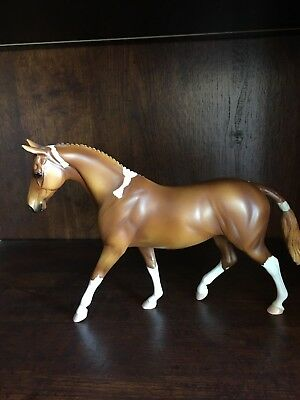 Peter Stone Overo Chestnut Paint pony with braided mane and tail