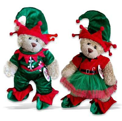 Teddy Bear Clothes fits Build a Bear Teddies Christmas Elf Boy | Girl Outfit