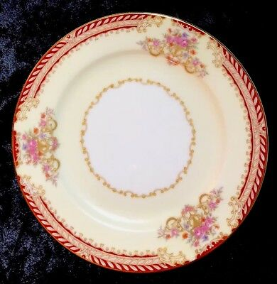 """Noritake Royal Ruby 6 3/8"""" Bread And Butter Plates Excellent Condition"""