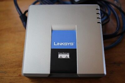 2 sets Cisco//Linksys SPA2102 VoIP Phone Adapter Router 2FXS