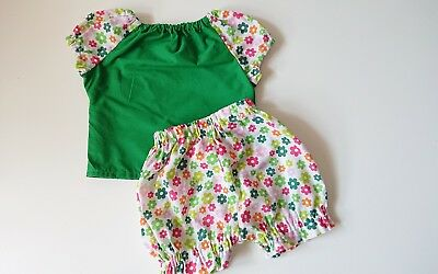 Beautiful Floral Top Short set baby's summer sping clothes handmade