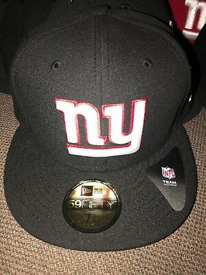 6c3c5827ae9 New Era 59Fifty Team Headwear NFL New York Giants Fitted Hat Black Sz 7 3