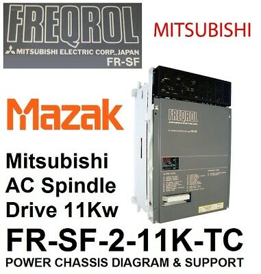 Freqrol Mitsubishi Mazak Fr-Sf Ac Spindle Drive Power Chassis Diagram / Scheme