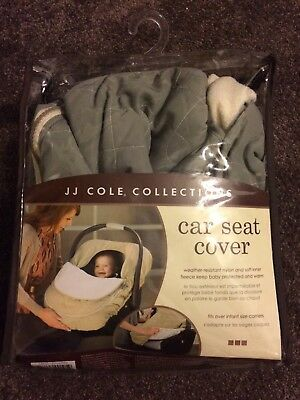 Jj Cole Car Seat Cover For Infants Graphite Gray Pattern Fleece
