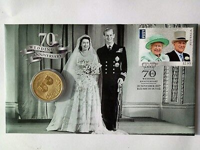 2018 Uncirculated Queen 70th Wedding Anniversary $1 Coin PNC Limited to 7500