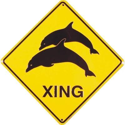 Signs 4 Fun Sdxd Dolphin Xing Crossing Sign