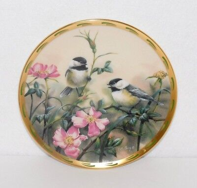 "Lenox Plate Nature's Collage 8"" Plate ""rose Morning"" 1992 Catherine Mcclung"