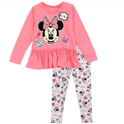 Minnie Mouse Girls 2-piece Coral 24 Months Legging Set