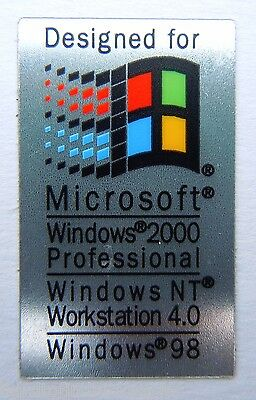 Microsoft Windows 2000 / NT / 98 Sticker 19 x 32mm [334]
