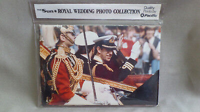 Set of 10 ROYAL WEDDING PHOTO COLLECTION OF PRINCE CHARLES & LADY DIANA SPENCER