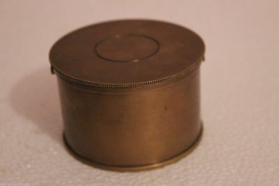 COLLECTIBLE Antique Nautical Collectible Brass Table Paper Weight Drum Compass