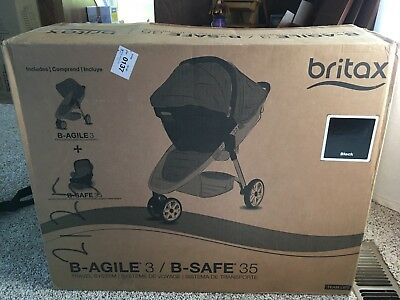 Britax b agile 2016 travel system stroller & car seat New, in box