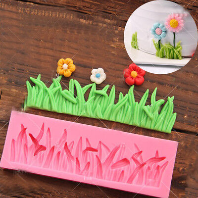 Grass Silicone Mould Fondant Cake Flowers Plant Chocolate Sugarcraft Baking Mold