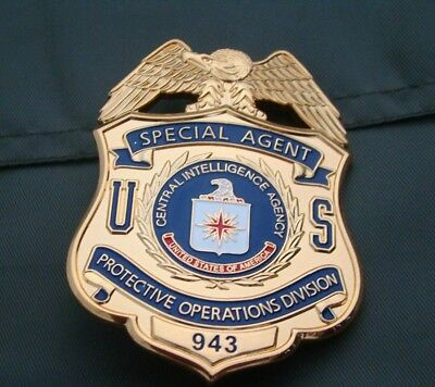 Us Special Protective Division Pin Badge Collection Copperl Material Golden