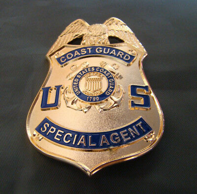 Copperl Material  Us Coast Guard Pin Badge Collection Golden