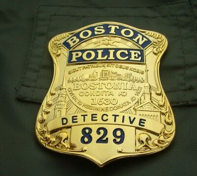 Copperl Material Us Boston Detetive Badge Army Collection Golden