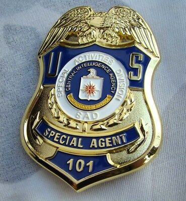 Copper Us Badge Army Pin Agent Collection Golden Color