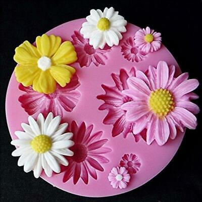 3D Daisy Flowers Shape Fondant Mold Silicone Cake Chocolate Decorating DIY Mould