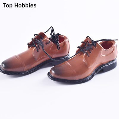"""1/6 VH Men's Fashion Shoes A Yellow Brown Model For 12""""Phicen Body Action Figure"""