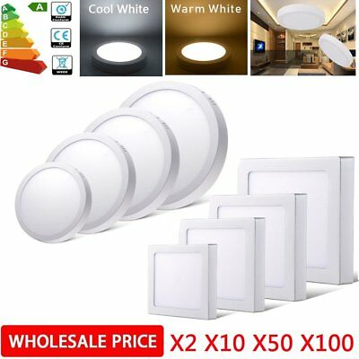6W/12W/18W/24W Surface Mounted Recessed LED Ceiling Light Flat Panel Lamp Lot BE