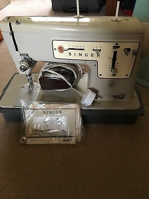 SINGER MODEL 40 Electric Sewing Machine Used In Good Condition Custom Singer 447 Sewing Machine