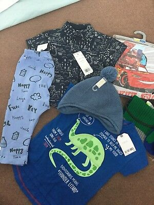 Baby Boy Brand New With Tags Clothes Bundle 12-18 Months Next, F&F