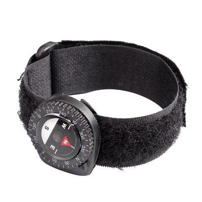 Compass Wrist Watch Outdoor Emergency Light Compass Webbing Band Metal Compass