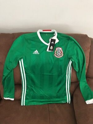af1c19689 adidas Mexico El Tri 2016 Long Sleeves Green Soccer Jersey NWT Size S Men
