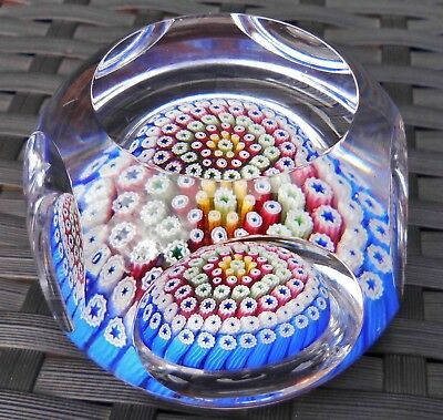 Whitefriars Concentric Millefiori Faceted Paperweight Monk Cane