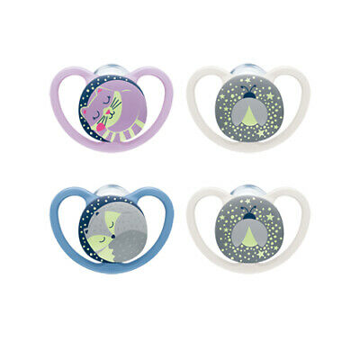 Nuk Happy Days Orthodontic Soother 2 in pack  0-6m 6-18m  Boys/Girls  Bpa free
