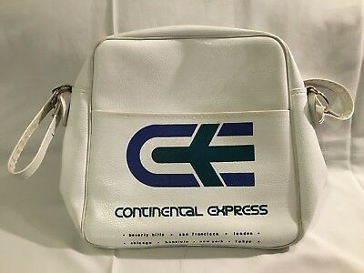 Vintage Continental Express Airline Carry-on tote bag travel white 1980s luggage